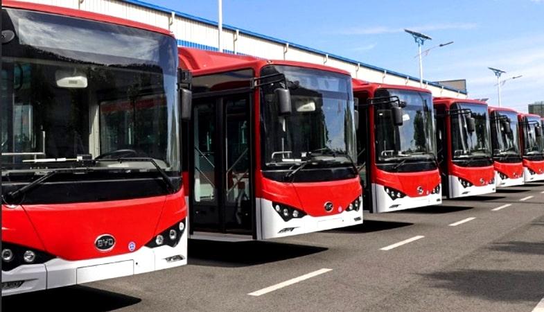 Buses electricos Transantiago